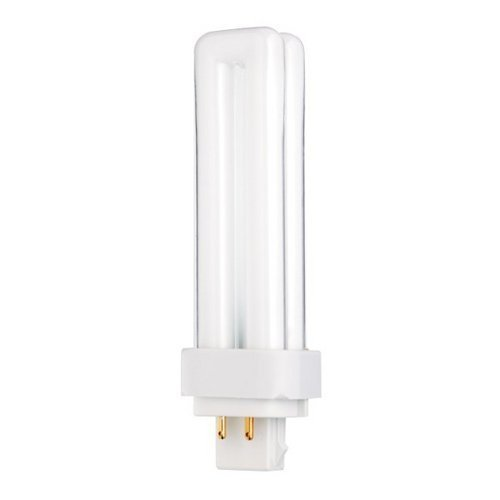 - Sylvania 20672 18W Compact Fluorescent 4 Pin Double Tube 3500K, 4-PACK