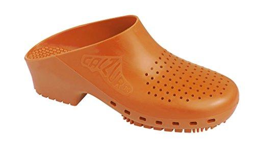 Calzuro Autoclaveerbare Klomp Met Bovenste Ventilatie Oranje