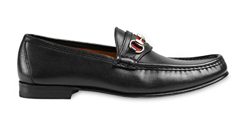 58a556806 Gucci Men's Leather Horsebit Loafer with Signature Web Detail, Nero (Black)  157440 (US 12 D (M) / (Gucci/UK 11.5)) - Buy Online in UAE.
