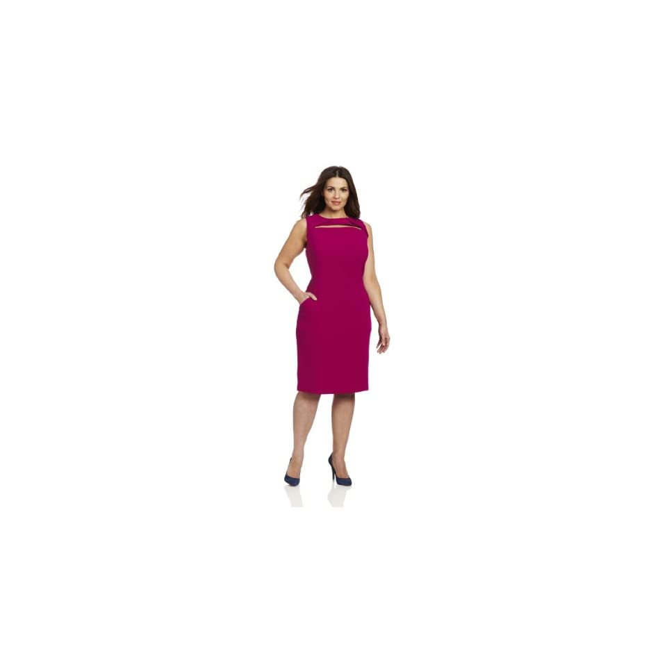 Anne Klein Womens Plus Size Sheath Dress