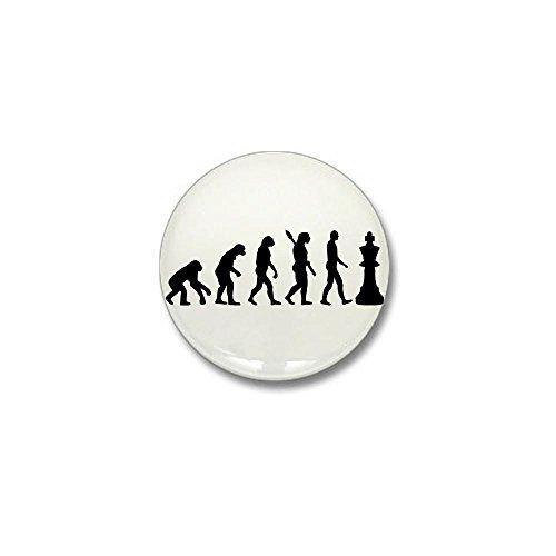 CafePress - Chess king evolution Mini Button - 1