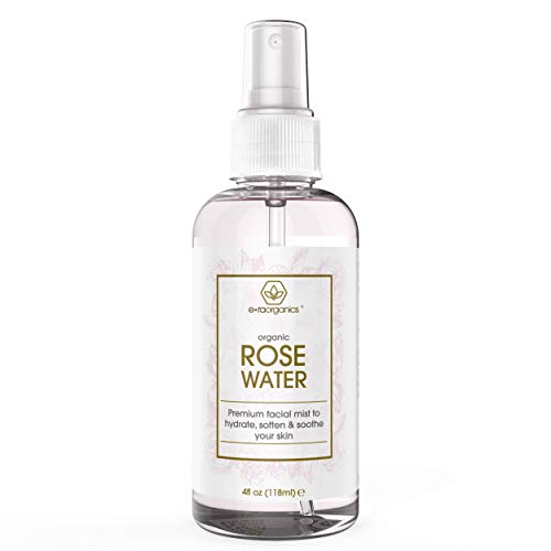Organic Rose Water Toner Facial Spray - Premium Rose Water For Healthy, Glowing, Irresistible Skin & Hair - Rejuvenating & Refreshing Face Mist Made for Sensitive Skin w No Fillers by Era-Organics