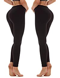 YOHOYOHA Yoga Pants for Women Plus Size Tummy Control Lift The Hip XS-4XL Black Compression Leggings