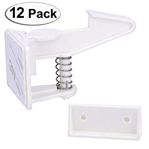 Cabinet Locks Child Safety Latches – Vmaisi 12 Pack...