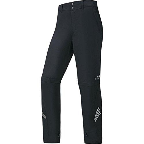 (GORE BIKE WEAR 2 in 1 Men's Long Cycling Rain Overpants, GORE WINDSTOPPER, ELEMENT WS AS Zip-Off Pants, Size XL, Black, PWZELE)