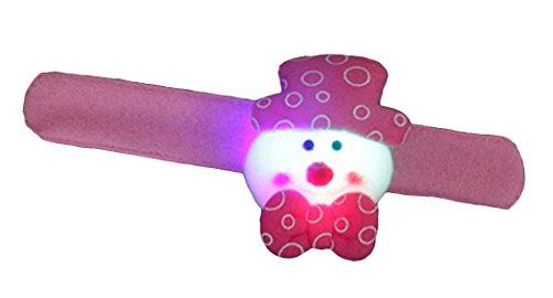 Funpa LED Slap Band Christmas Bear Glow Bracelet with Built-in -