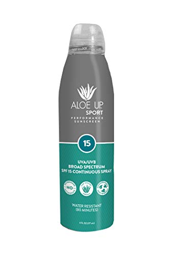 Aloe Up Sun & Skin Care Products Sport SPF 15 Continuous Spray Sunscreen