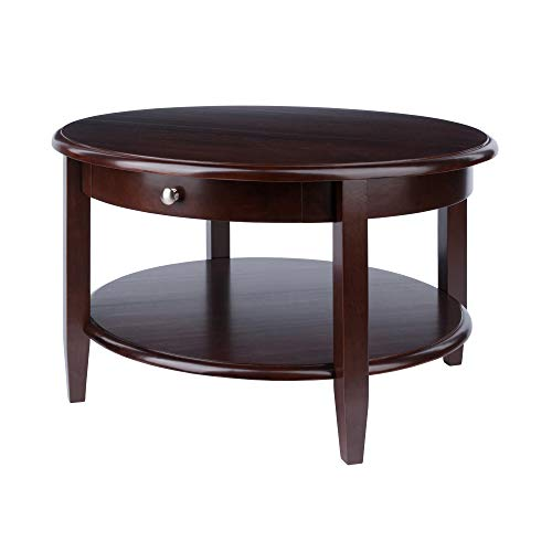 Winsome Wood Concord Occasional Table, Antique Walnut (Living Room Round Table)