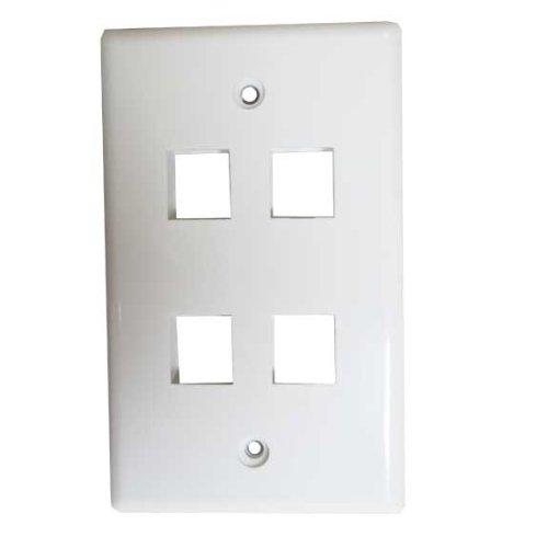 SF Cable, 4 Port Wall Plate for Keystone - Bnc Module Keystone