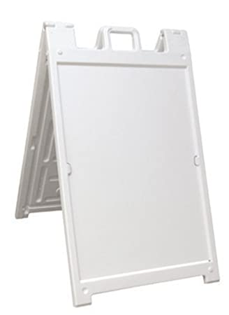 Deluxe White Plastic Outdoor Signicade A Frame Sign Curb Sign ...