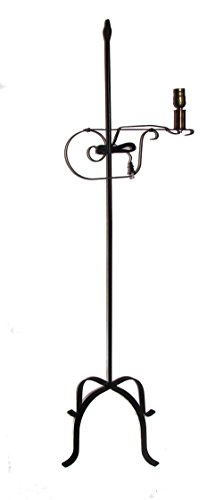 Wrought Iron Floor Lamp Flame Top - Amish Made