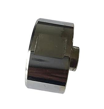 Meter Star - Juego de 4 perillas para estufa de gas con interruptor giratorio, pomo redondo de acero, pomo para estufa de gas: Amazon.es: Hogar