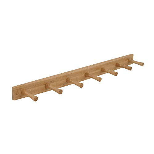 Spectrum Diversified Wood Wall Hook Rack, 7 Peg, Bamboo
