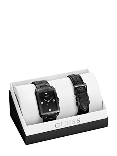 GUESS Factory Men's Black Analog Watch Box Set