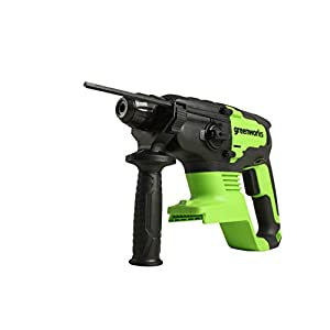 Greenworks cordless percussion drill GD24SDS2 (Li-Ion 24V 10.000 rpm max. speed 2 joules torque 4in1 function with…