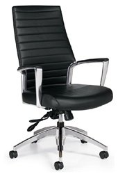 Global Accord High Back Tilter Executive Chair, Black 26704ALSO47 ()