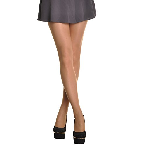 (Angelina Sheer Nylon/Spandex Pantyhose (pack of 6 pairs), Suntan,One Size)