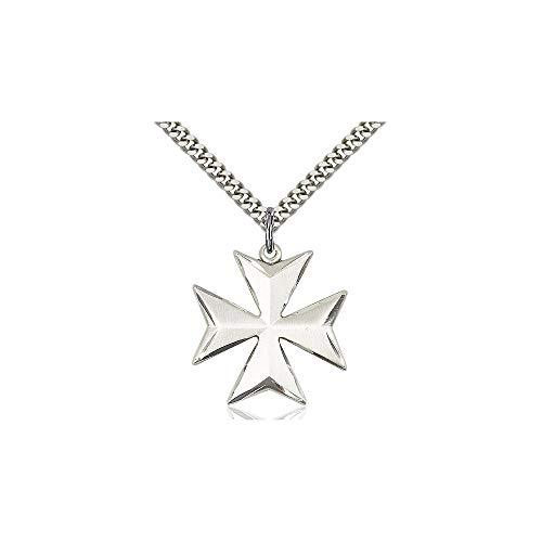 Sterling Maltese Cross - DiamondJewelryNY Sterling Silver Maltese Cross Pendant
