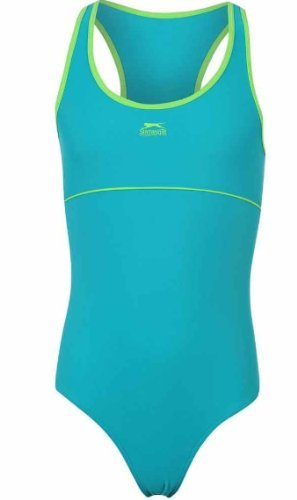 14-15 Jahre Slazenger Mädchen Badeanzug in der Farbe : teal/lime