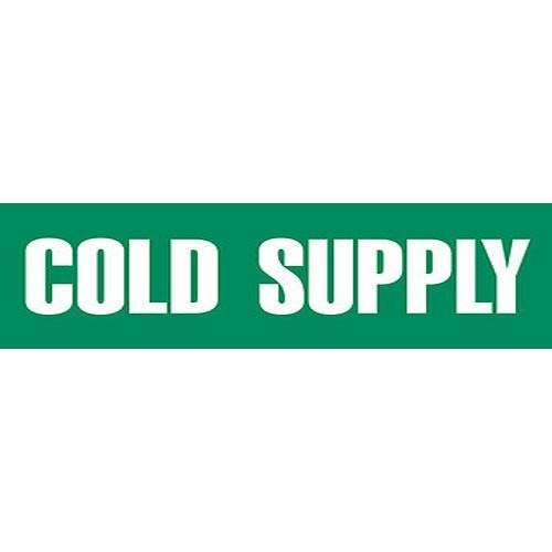 GHS Safety PM1059VB, Adhesive Vinyl Pipe Marker''Cold Supply'', Pack of 500 pcs