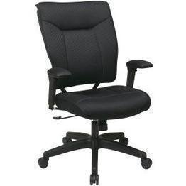 SPACE Seating Professional Padded Mesh Back and Seat, 2-to-1 Synchro Tilt Control, Adjustable Arms and Tilt Tension Executive Chair, Black by Space Seating