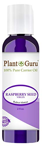 Raspberry Seed Oil 2 oz. Virgin, Unrefined Cold Pressed 100% Pure Natural - Skin, Body And Face. Great for Psoriasis & More!