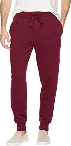 Polo Ralph Lauren Men's Brushed Fleece Jogger Pants Classic Wine/Cruise Navy Pony Print Medium (Mens Lauren Fleece Ralph)