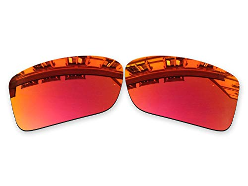 Vonxyz Lenses Replacement for Oakley Double Edge Sunglass - Ruby MirrorCoat ()
