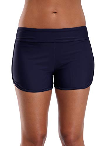 beautyin Women's Swim Shorts Boyleg Draw String Tankini Swimsuit Bottom