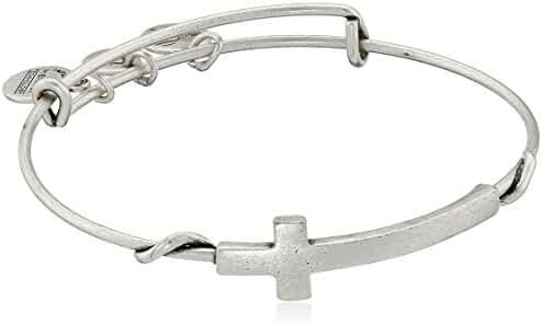 Alex and Ani Spiritual Armour Cross Expandable Wire Bangle Bracelet, 7.75