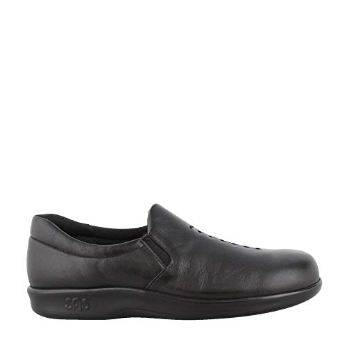SAS Women's Viva Black Leather Slip on Comfort Shoe, 10 W