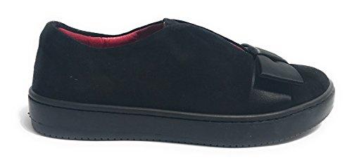 AURORA Zapatillas de Ante Para Mujer Negro Negro