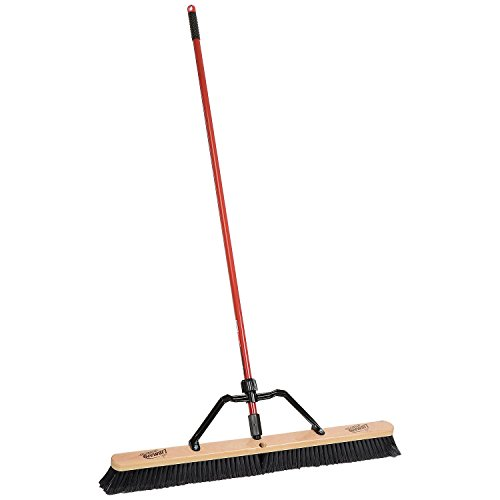 Libman Commercial 850 36'' Smooth Sweep Push Broom - Brace Handle - Lot of 3 by Libman