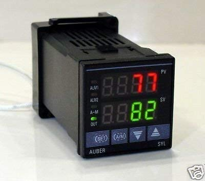DIN PID Temperature Controller with Dual Alarm Outputs, Built-in 2A AC SSR