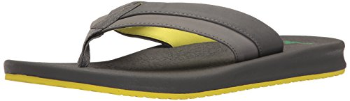 9 Brumeister Charcoal Flop Black Lightning UK Men's Flip Sanuk w7xqTUX5U
