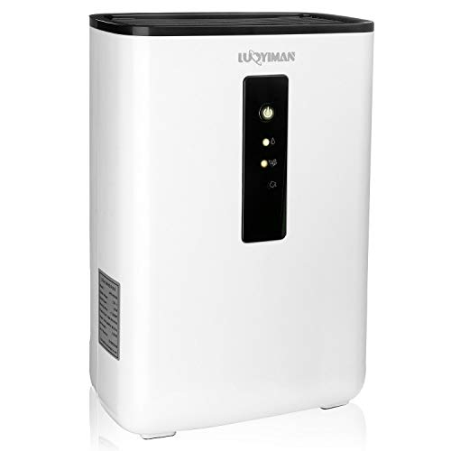 LUOYIMAN White Electric Mini Portable Air Dehumidifier for Home