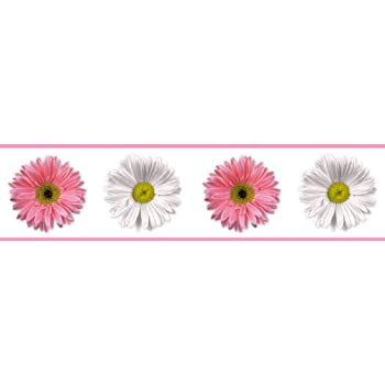 RoomMates RMK1457BCS Floral Scroll Peel & Stick Border