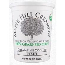 Maple Hill Creamery Organic Plain Yogurt, 32 Ounce - 6 per case.
