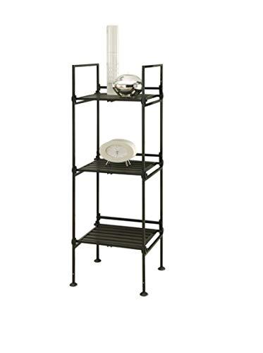 Neu Home Espresso 3 Tier Square Free Standing Storage Shelf - No Tool Assembly