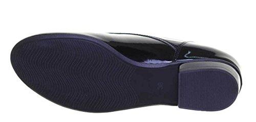femme verni à lacets noir ville Justin pour Chaussures de Aneta Reece n1Xqv8