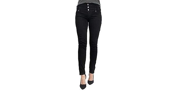 Amazon.com: Eunina - Pantalones vaqueros de cintura alta ...
