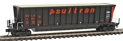 Bathtub Coal Gondola - Bathtub Coal Gondola - Ready to Run -- Sultran SULX (black, orange, Large Lettering)