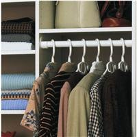 Deep Easy Track - Easy Track RS1423 24-Inch Closet Shelf, White, 2-Pack