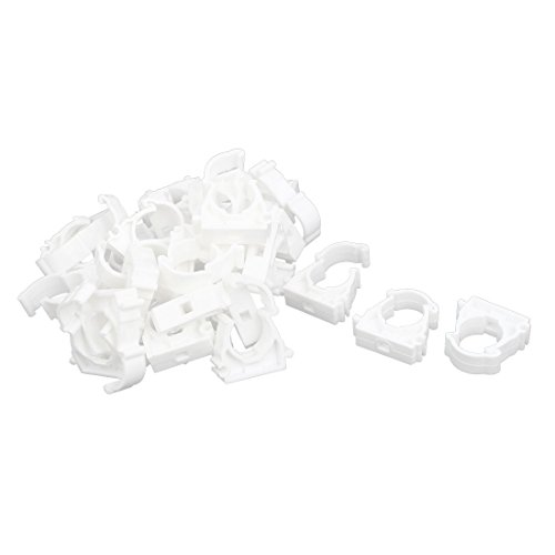 uxcell 30pcs 20mm Dia PPR Pipe Tube Clip Clamp Fittings Connectors 37mmx12mmx37mm by uxcell