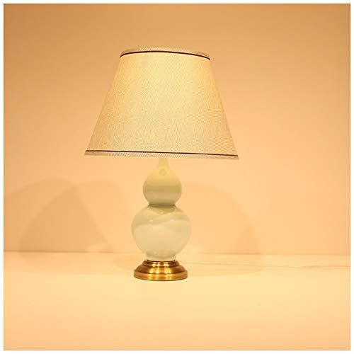 - HN Lighting Table Lamp, American Celadon Gourd Gathers Fashion Elegant Living Room Bedroom Study Table Lamp, Table Lamp