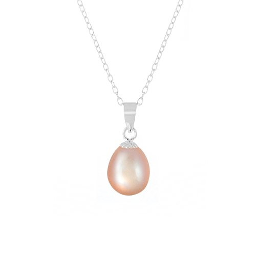 Lulu Dharma Sterling Silver 9mm Freshwater Pearl Necklace - MSRP $140
