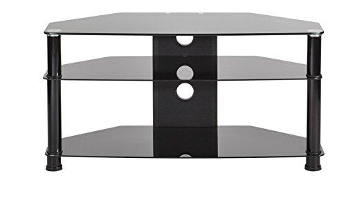 Black Plasma Hdtv (MMT Black Glass TV Stand | 32
