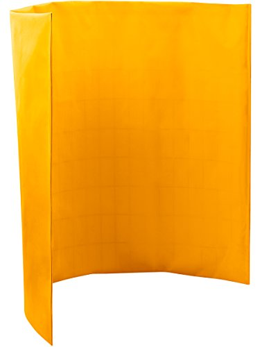 Steiner 431-5X6 Port-O-Screen Portable Welding Screen with 13-Ounce Flame Retardant Vinyl Laminated Polyester Curtain, Yellow, 5