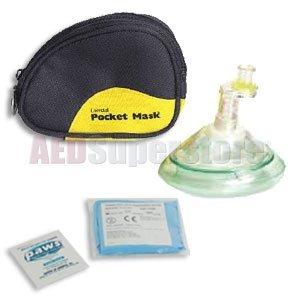 Laerdal Pocket Mask (Laerdal Pocket Mask w/Gloves & Wipe in Black Soft Pack - 82004133)