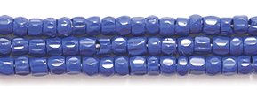 Seed Glass Cut Beads (Preciosa Ornela Czech 3-Cut Style Seed Glass Bead, Size 9/0, Opaque Navy Blue)
